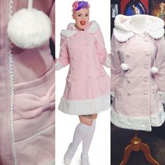 Be a super cute snow bunny in this pastel pink coat! #blamebetty #cutest #pink