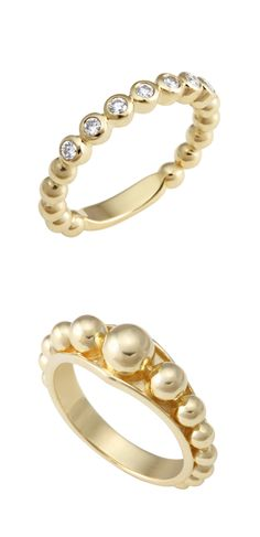 Covet 18k Gold and Diamond Stacking Rings | LAGOS.com I don't like gold, but I love pearls
