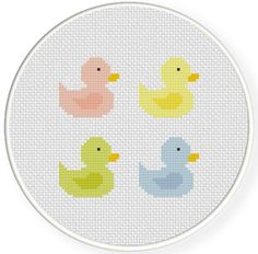 (10) Name: 'Embroidery : Color Ducks Cross Stitch Pattern