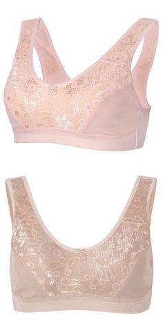 78e6a747489 Bra fashion nova plus size women sexy gather lace bras wireless breathable  vest bra  bra