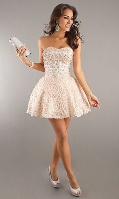 Pink Short Strapless Prom Dress by Blush 9353 $398    This