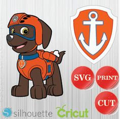 Paw Patrol SVG, INSTANT Download, Printable Decals for Cricut and Silhouette, Zuma by bulgraphics on Etsy