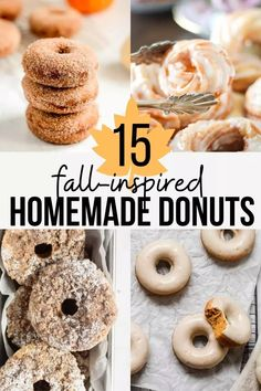 Are you in a baking mood and curious to try making your own donuts at home? Make sure to check out our fall-inspired donut recipes here! #donuts #donutrecipes #homemadedonuts #easydonutrecipes #fallinspired #fallinspiredrecipes #readyforfall #autumn #falldesserts #desserts #breakfast #homemadebreakfast Desserts For A Crowd, Best Dessert Recipes, Fall Desserts, Sweet Desserts, Delicious Donuts, Delicious Desserts, Yummy Food, Pumpkin Spice Muffins, Baked Pumpkin