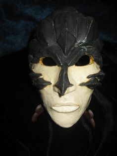 The Dragon Slayer Warrior Porcelain Mask.Gift by CreationsbyFarrah, $80.00
