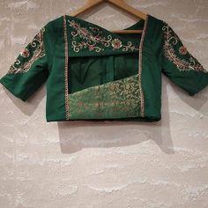 "Embroidery work blouses on Instagram: ""Embroidery work blouses . . . . . . . #southindianfashion#maggamwork #embroidery #bridesofindia #bridesofbangalore…"""