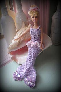 Barbie Doll Party Dress/Mermaid Costume Free Pattern <3