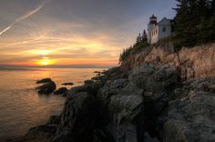 Bass Harbor Head Light, Acadia National Park HDR