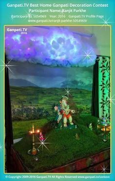Ranjit Parkhe Home Ganpati Picture 2016. View more pictures and videos of Ganpati Decoration at www.ganpati.tv