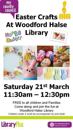 Easter Crafts at Woodford Halse Library