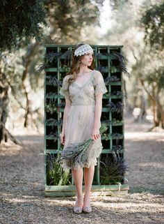 rustic lavender bride