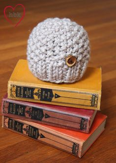 Classic Knit Baby Hat - Taupe