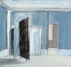 Pierre Bergian, L'Atelier, 2011, Oil on panel, 41 x 30 cm