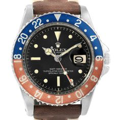 17679 Rolex GMT Master Vintage Red and Blue Pepsi Bezel Mens Watch 1675 SwissWatchExpo