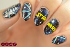 #EXO in Collaboration with #StarWars #Lightsaber Nail Art