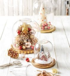 Calling all makers: DIY the halls this holiday season with these gorgeous winter domes! Holiday DIY home decor.