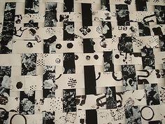 empreintes blanches sur fond noir et noires sur fond blanc puis découpage en bandes à entrelacer
