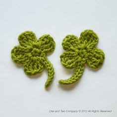 Clover FREE Applique Crochet Pattern from @One and Two Company