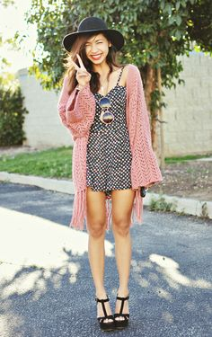 Cute Playsuit Boho Outfit. Summer Fashion. Summer Outfit. Bohemian Style. Hippie Style. Festival Style