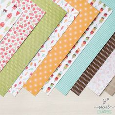 I love ice cream! And this paper is all about ice cream and other cool treats. Stampin' Up! did a great job creating a suite of products featuring ice cream, popsicles and their toppings. While pretty summer colours, this suite could work for a variety of