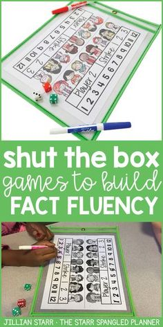 Shut The Box is one of the BEST CENTER GAMES EVER! It's a fun and engaging activity to help build math fact fluency and master addition facts. Check out the variety of ways to play (partner games, independent games, and whole class) and FREE PRINTABLES. Definitely a classroom MUST HAVE!