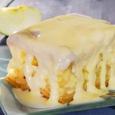 Homemade Apple Cake With Vanilla Sauce