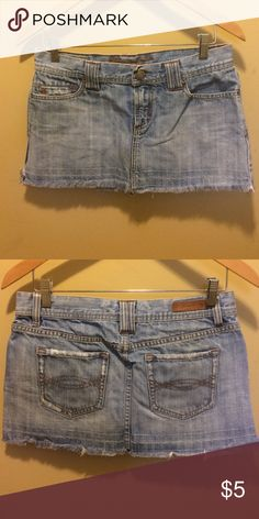 Abercrombie and Fitch jean mini skirt size 4 Light blue denim mini skirt. A&F size 4. Abercrombie & Fitch Skirts Mini