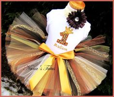 Birthday Princess Crown, Number, Party Outfit,Tutu set,Personalized, Safari Themed Parties in Sizes 1yr thru 5yrs
