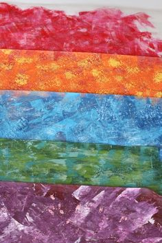 eric carle inspired art  on waxed paper
