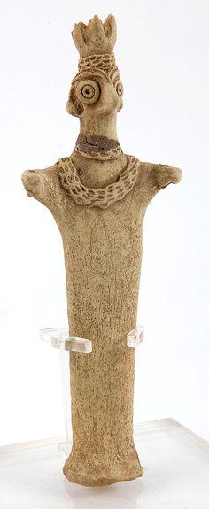 Syro-Hittite. Bird-headed Astarte Figurine, ca. 3rd Millennium BC.
