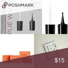 Julep tools bundle Creativity Kit (striping brush & dotting tool),  Metal Marks temporary nail tattoos,  2pk Nail Buffers Julep Accessories
