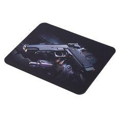 2017 Guns Photo Anti Slip Laptop Computer PC Mouse Gaming Mouse Mat Mousepad For Optical Mouse 22 cm * 18 cm