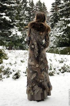 Верхняя одежда ручной работы. Арт-пальто №1
