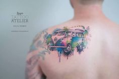10 Cool Volkswagen Kombi Tattoos For Your Inner Hippie