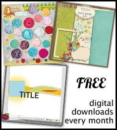 Free digital scrapbooking downloads. TheDailyDigi.com