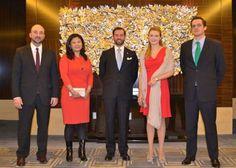 Stéphanie de Luxemburgo debuta como Princesa en su primer viaje oficial al extranjero #luxembourg #realeza #royals #royalty