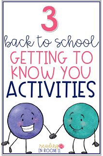 Are you looking for some fun ways to get to know your students better?  Here are three great getting to know you activities for back to school!  I use them at the beginning of the year, when we get a new student and/or change groups.  Click here to get yo
