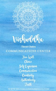 Discover more about the Throat Chakra - our Communications Center. How you can heal and balance your Throat Chakra. Chakra Tattoo, Chakra Art, Heart Chakra, Blue Chakra, 7 Chakras Meaning, Mandala Meaning, Vishuddha Chakra, Sacral Chakra, Chakra Meditation
