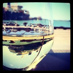 View of Auckland Harbour Front Through a Glass Of Pinot Gris via @Wineprick