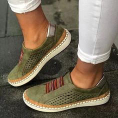 Spring autumn women slip on loafers ladies casual comfortable flats breathable leather shoes zapatillas. Sneaker Women, Women Slip On Sneakers, Loafers For Women, Slip On Shoes, Flat Shoes, Ladies Loafers, Platform Shoes, Flat Sandals, Ladies Espadrilles