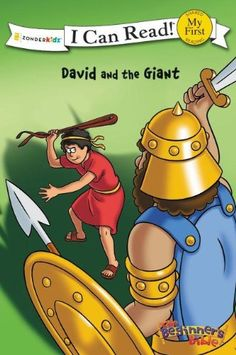 David and the Giant (I Can Read! / The Beginner's Bible) by Kelly Pulley,http://www.amazon.com/dp/0310715504/ref=cm_sw_r_pi_dp_dP5dtb0MWE4E0B1S