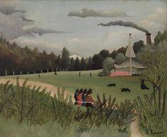Landscape and Four Young Girls (Paysage et quatre jeunes filles)  c. 1895Oil on canvas15 x 18 1/8 in. (38.1 x 46 cm)