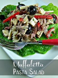 I'm always looking for ways to inject New Orleans flavors into everyday foods, so when I spotted this recipe for Muffaletta Pasta Salad  on Allrecipes, I had to give it a try. The original recipe didn't quite make it for me, so I changed it up a bit adding thinly sliced rings of pepperonicini for some zing, and a bit of creamy Italian salad dressing to make it darned near perfect. It serves equally well as a side dish or main meal, and it's tough to stop eating this one.