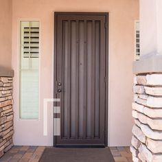 An Iron Security Door from First Impression Ironworks will create a beautiful entry way for your Arizona home while providing […] Entry Gates, Entry Doors, Front Entry, Iron Gates, Iron Doors, Gate Design, Door Design, Steel Security Doors, Living Room Tv Unit