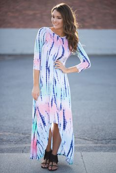 BUY NOW! Are You Festival Ready?! This dress is key in your summer fun wardrobe! Hi-Low style makes great for dancing around to the summer tunes that play!