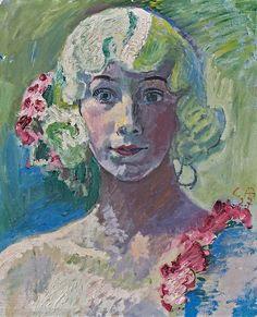 Cuno Amiet (Swiss, 1868–1961), Irene, 1927. Oil on canvas, 46 x 38 cm.