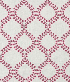 Robert Allen Winding Leaves Raspberry - $44.55 | onlinefabricstore.net