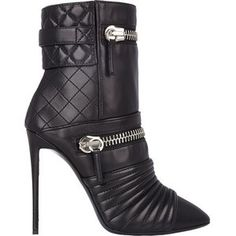 Giuseppe Zanotti Quilted Moto Ankle Boots Fall 2014 #Zanottii #Booties #Shoes