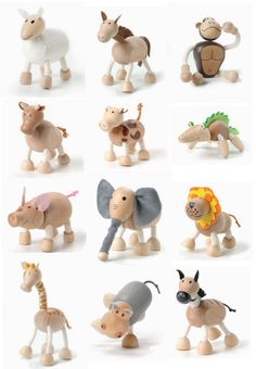Anamalz - Wooden toys. I just love these! !