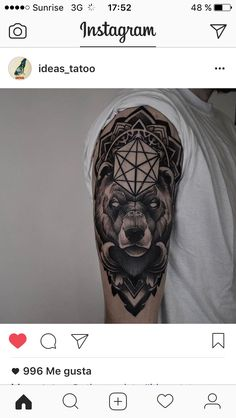 Hand Tattoos For Guys, Tattoos For Lovers, Bear Tattoos, Animal Tattoos, Badass Tattoos, Cool Tattoos, Line Tattoos, Small Tattoos, Tattoo Sleeve Designs