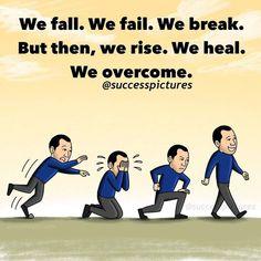 Wir fallen. Wir scheitern. Wir unterbrechen. Aber dann erheben wir uns. Wir heilen. Wir überwinden. Reality Of Life, Reality Quotes, Positive Quotes For Women, Positive Vibes, Real Life Quotes, Best Quotes, Inspirational Quotes Pictures, Motivational Quotes, Success Meme